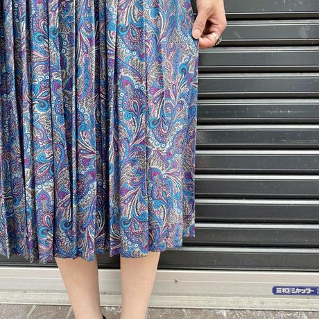 ペイズリー柄 プリントスカート