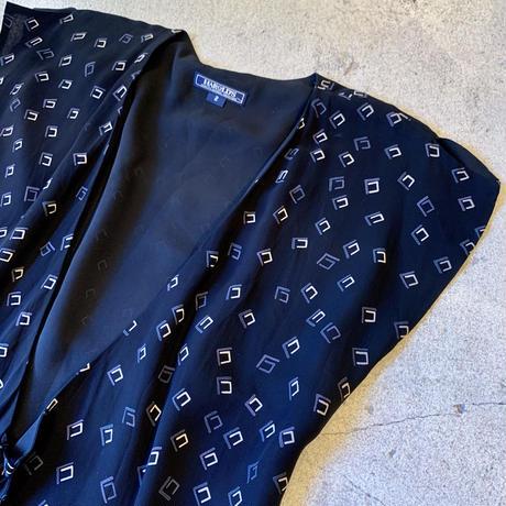 アメリカ製 レーヨン 総柄 羽織り