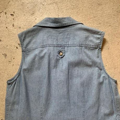 ベルト付き ノースリーブシャツ ワンピース
