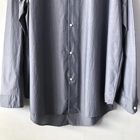 NO CONTROL AIR マオカラージャストサイズシャツ / Grey&Navy / M