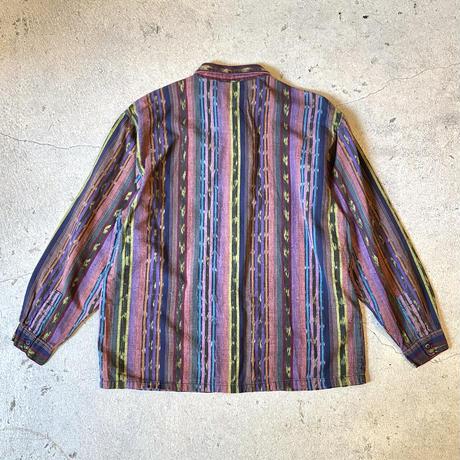 インドコットン ネイティブ柄シャツ