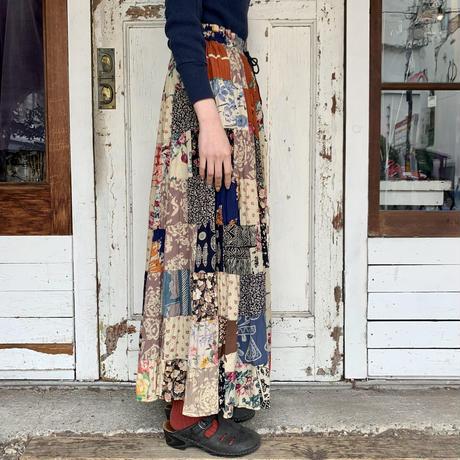 インド製 パッチワーク マキシスカート