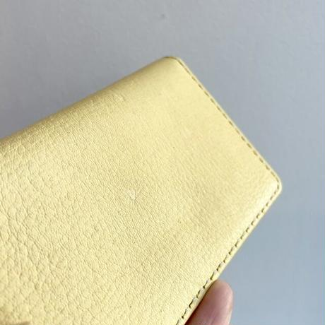 Inswirl  CARD CASE / YELLOW × WHITE