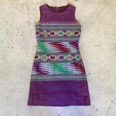 タイ刺繍 シルクワンピース