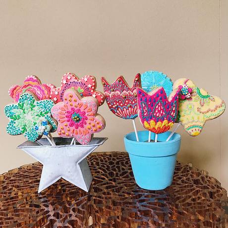 flower bouquet cookies
