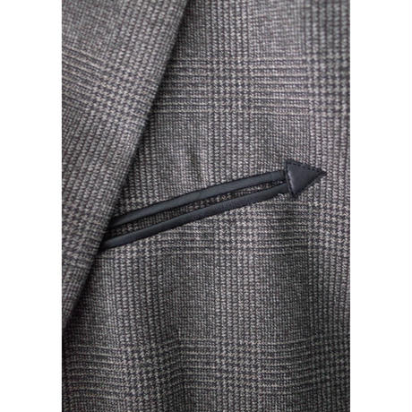 DOUBLE BREASTED JACKET -GLEN CHECK WOOL-