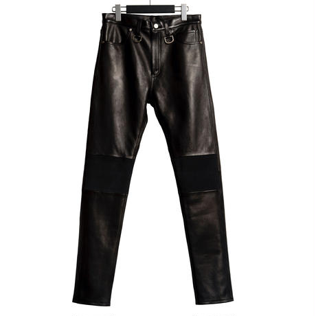 5 POCKET D RING SLIM PANTS  -SHEEP SKIN-