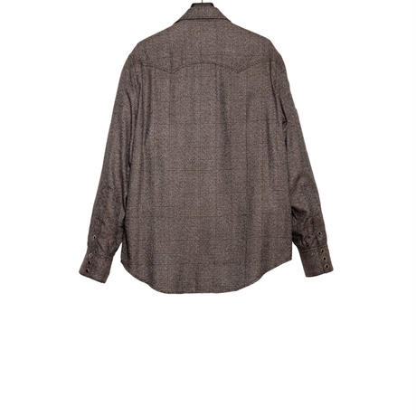 WESTERN ZIP SHIRT -GLEN CHECK RAYON-