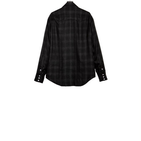 WESTERN ZIP SHIRT -OMBLE CHECK RAYON-