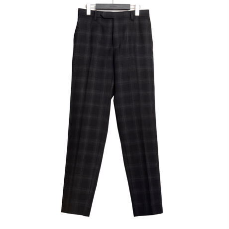 CLASSICAL REGULAR TROUSERS -OMBLE CHECK WOOL-