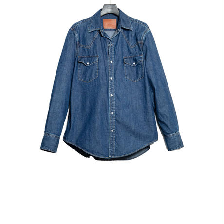 THE AMERICANS WESTERN SHIRT -USED WASHED DENIM-