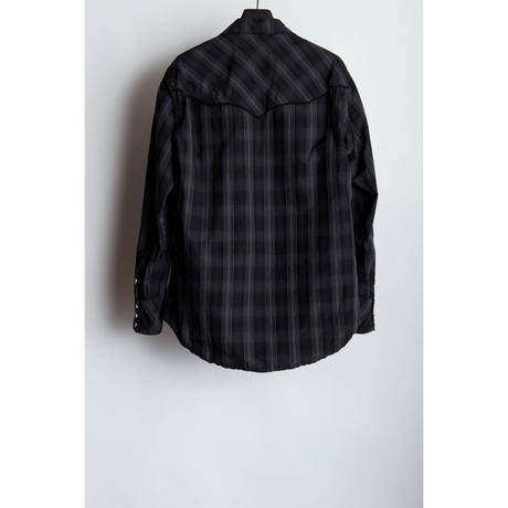 Western Pull Over Shirt.  -Ombre Check-