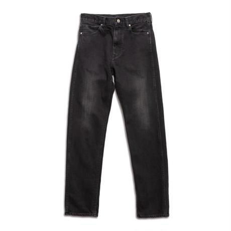 5 POCKET TAPERED PANTS -USED WASHED STRETCH DENIM-