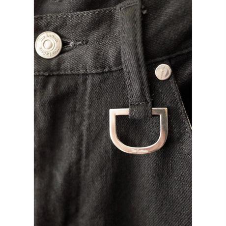 5 POCKET D RING SLIM PANTS -WASHED STRETCH DENIM-