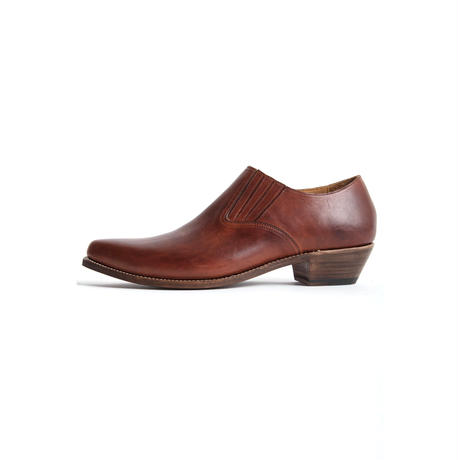 WESTERN POINTED SIDEGORE SHOES -COW HIDE-