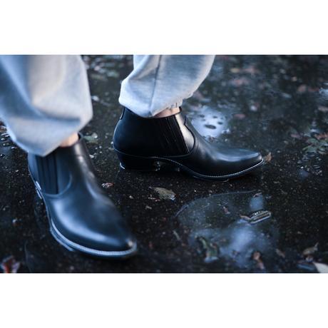 WESTERN MID CUT SIDEGORE BOOTS -COWHIDE-