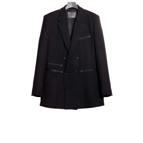 DOUBLE BREASTED JACKET -SERGE WOOL-
