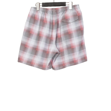 EASY SHORT PANTS -OMBRE CHECK FLANNEL-