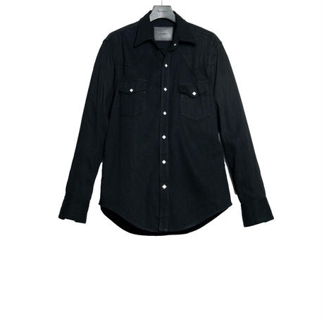 THE AMERICANS WESTERN SHIRT -WASHED DENIM-