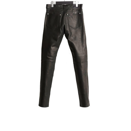 5 POCKET LEATHER PANTS  -CALF SKIN-