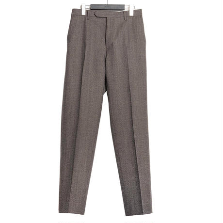 CLASSICAL REGULAR TROUSERS -GLEN CHECK WOOL-