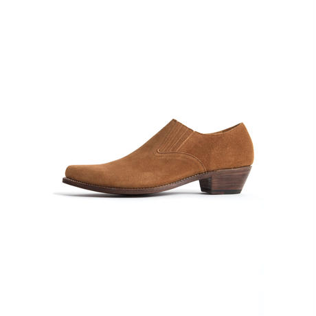 WESTERN POINTED SIDEGORE SHOE  -SUEDE-