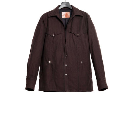 WESTERN CUTTING JACKET -HERRINGBONE WOOL COTTON-