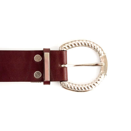 HORSESHOE BUCKLE BELT -COW SKIN-