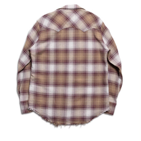 WESTERN CUTTING SHIRT -OMBRE CHECK SOFT HEAVY FLANNEL-