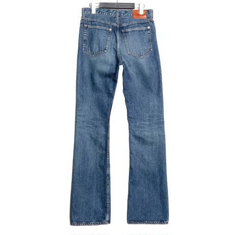5 POCKET BOOTS CUT PANTS -USED WASHED DENIM-