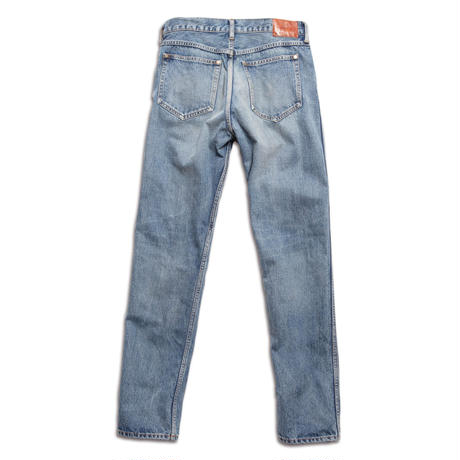 5 POCKET TAPERED PANTS -USED WASHED DENIM-
