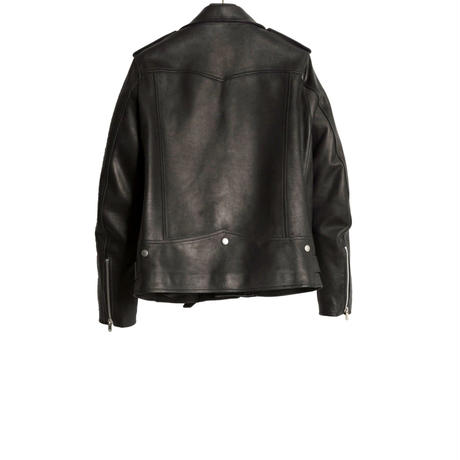 MOTOR CYCLE LEATHER JACKET -CALF SKIN-