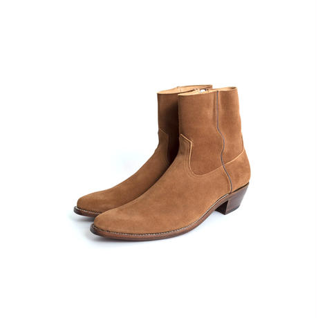 WESTERN DRESS SIDE ZIP BOOTS -SUEDE-