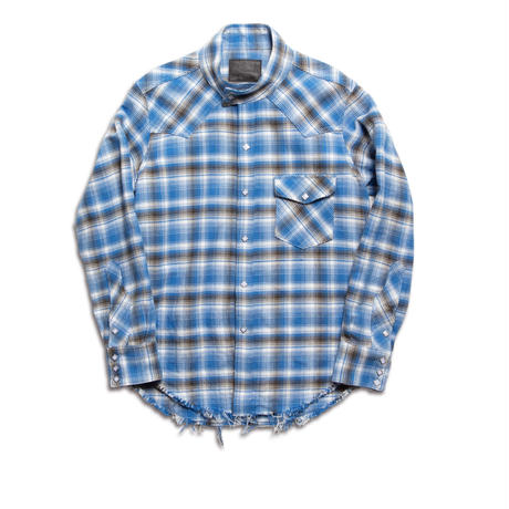 WESTERN SWING TOP SHIRT -OMBRE CHECK SOFT HEAVY FLANNEL-