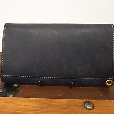 Vintage Works × The Wonder Lust    Long Wallet Navy