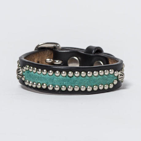 15mm STUDS BRACELET -inlay- (BLACK)
