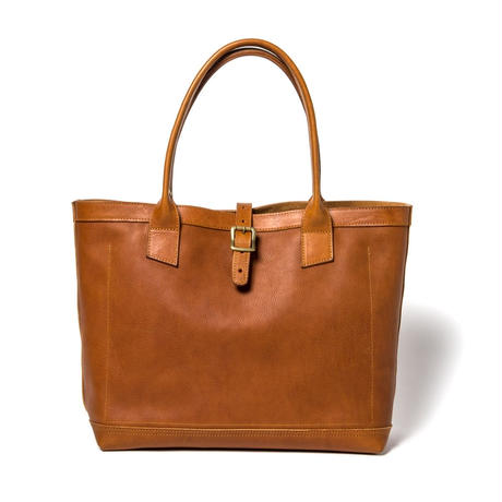 LEATHER TOTE BAG  (CAMEL)