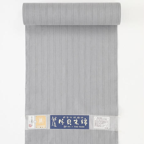 片貝木綿 三筋縞 / 灰