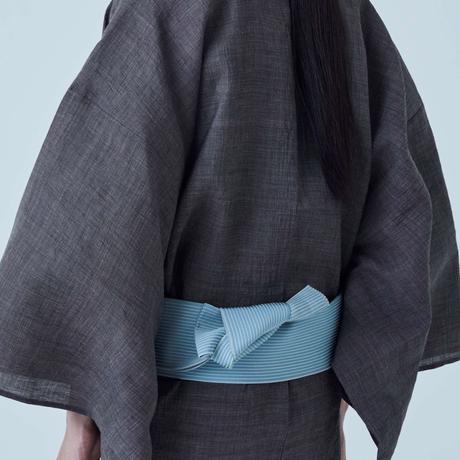 角帯 博多 麻絹/ブルーグレー