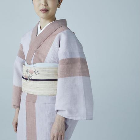 【プレタ レディース】夏きもの 小千谷 バイカラーシリーズ