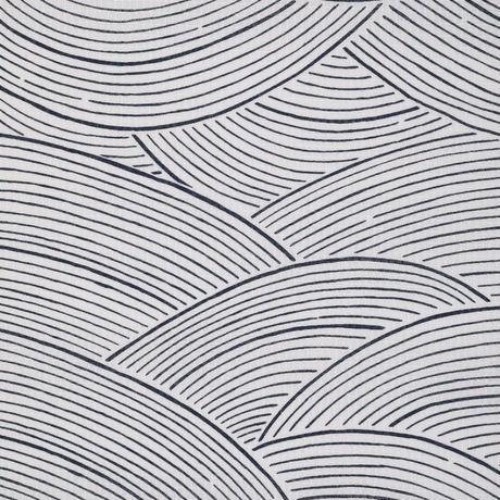 伊勢型ゆかた 波 ホワイト