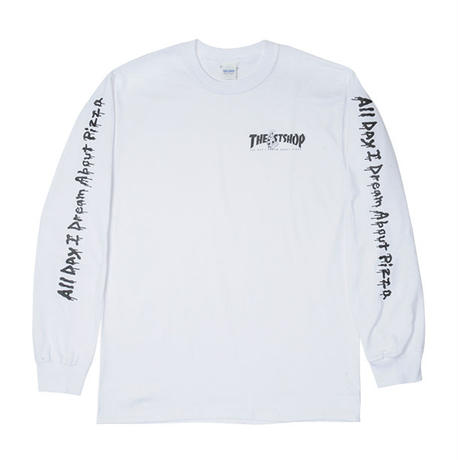 """THE 1st SHOP x ALL DAY I DREAM ABOUT PIZZA L/S Tee """"WHITE"""""""