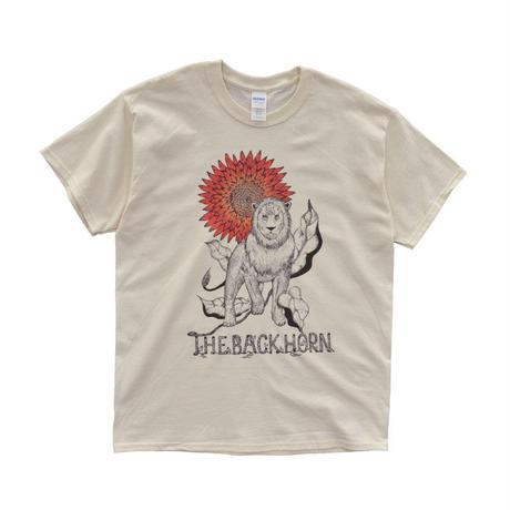 太陽の花ライオン Tシャツ(ナチュラル)