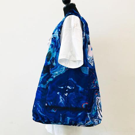 瑠璃色のキャンバスエコバッグ