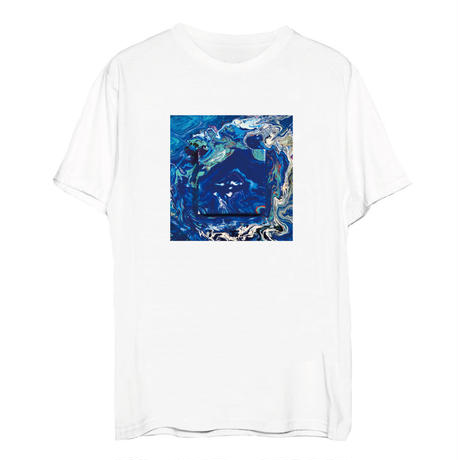 瑠璃色のキャンバスTシャツ