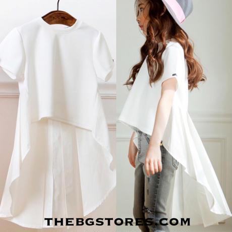 ベールTシャツ ホワイト☆kids