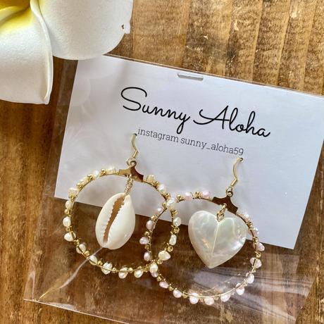 Natural shell stone pierceby sunnyaloha
