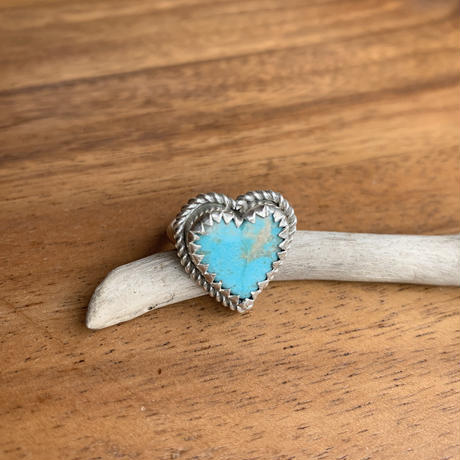 heart turquoise ring
