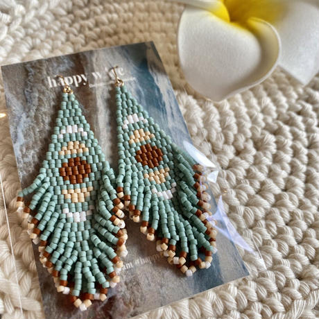 Beads fringe moon pierce by happywave