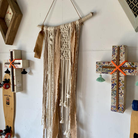 long macramé tapestry  by Due 2